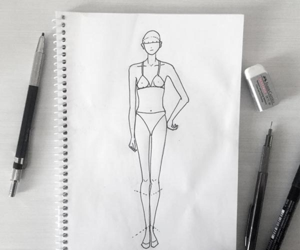 Line Drawing Female : How to draw back pose fashion drawing tutorials