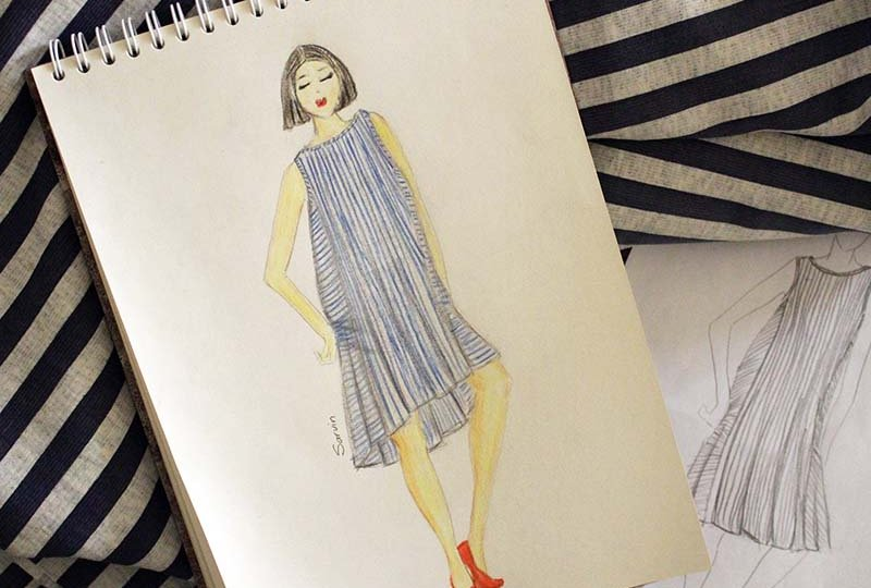 How to DIY maternity dress sketch to pattern