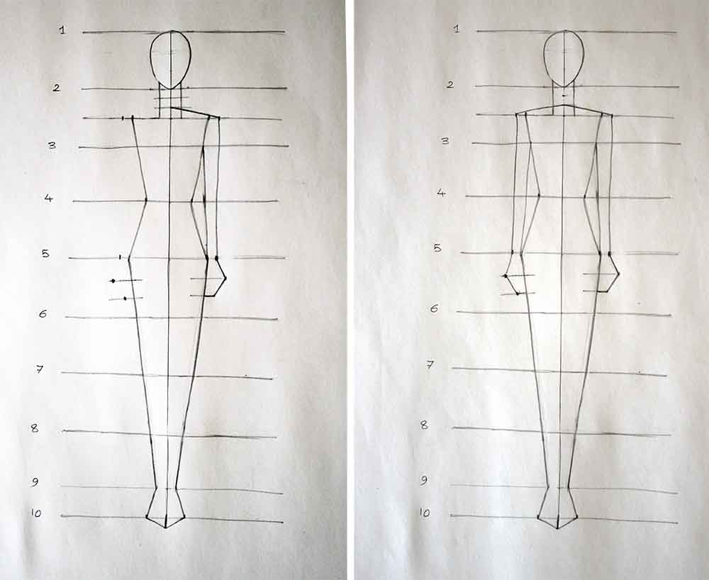 Fashion Linear Figure Design- Fashion Design Tutorial For beginners