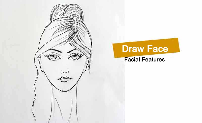 How to draw face for fashion figure - Tutorial for begineers
