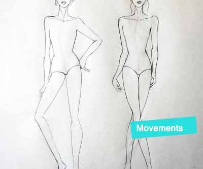 Draw movement for fashion figure