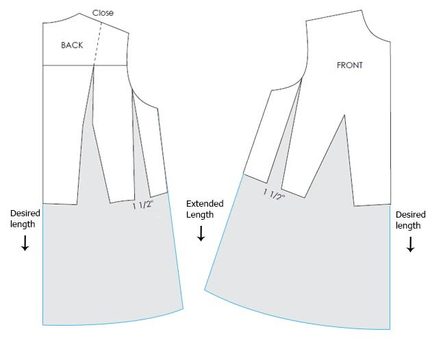 Designing maternity dress Pattern - Pattern Making Course Step 1