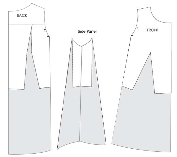 Designing maternity dress Pattern - Pattern Making Course Step 4