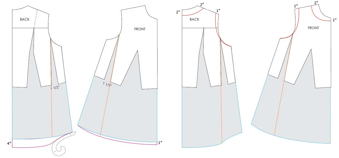Designing maternity dress Pattern - Pattern Making Course Step 3
