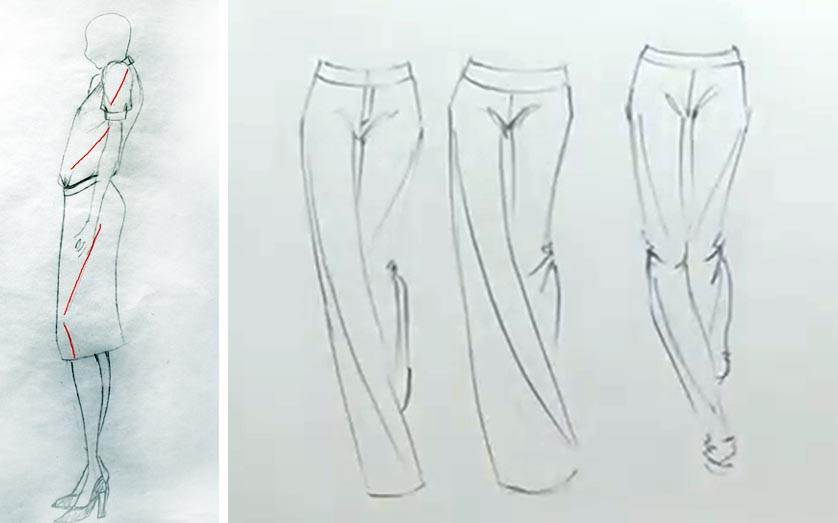 draw drapes created by direction of body