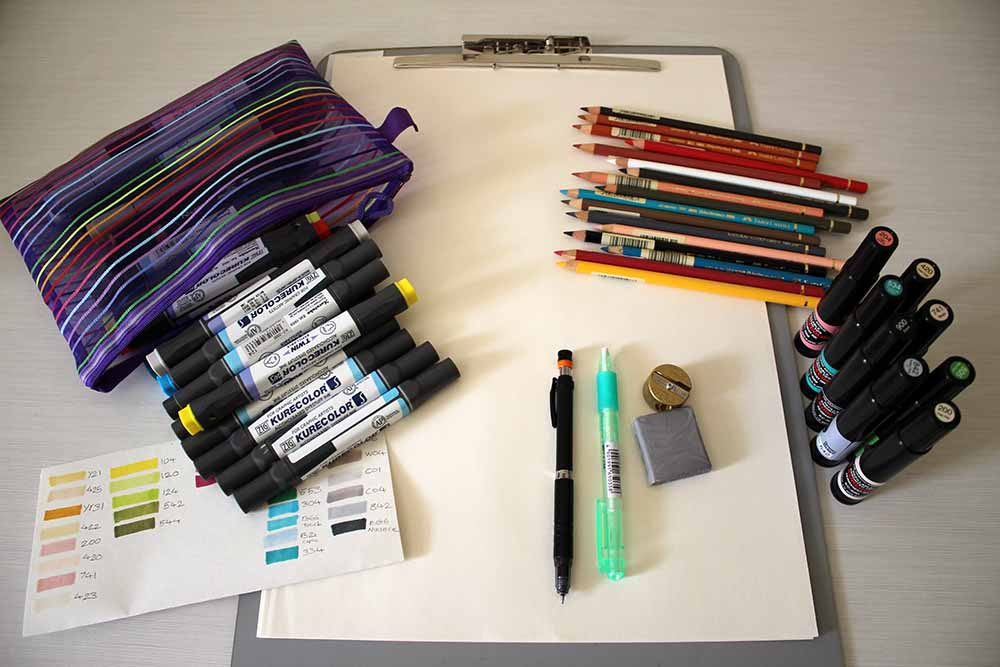 Tools and supplies for fashion designing