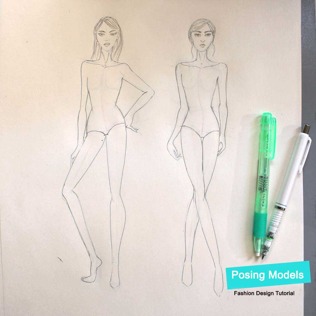 Fashion Design Tutorial - Figure movement and poses
