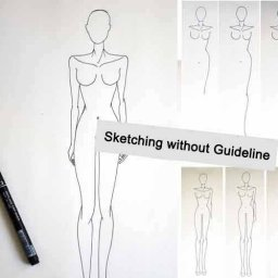 Fashion Figure Design without Guidelines