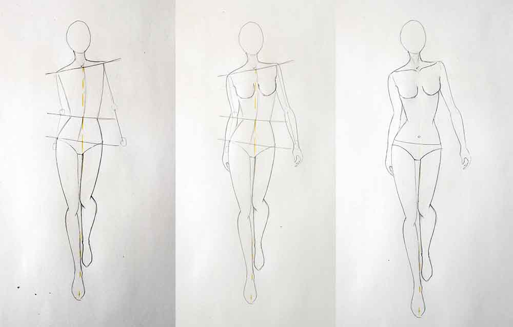 How To Draw Walking Pose Or Catwalk Model Fashion Tutorials