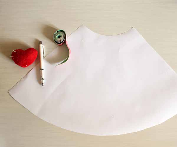 how to make half circle skirt pattern