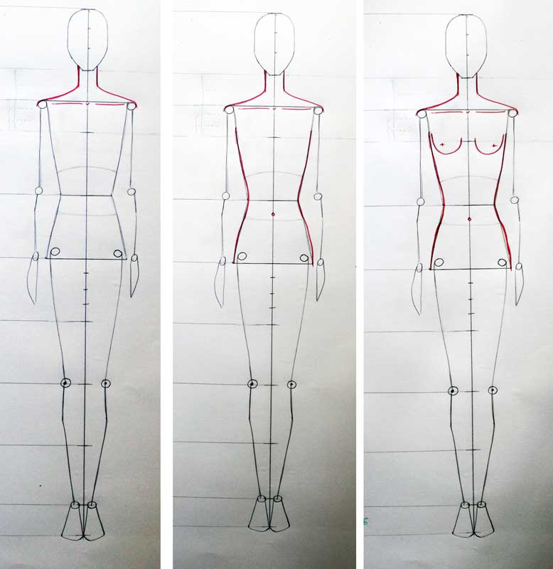 Cool Fashion Design Mannequin Body Drawing