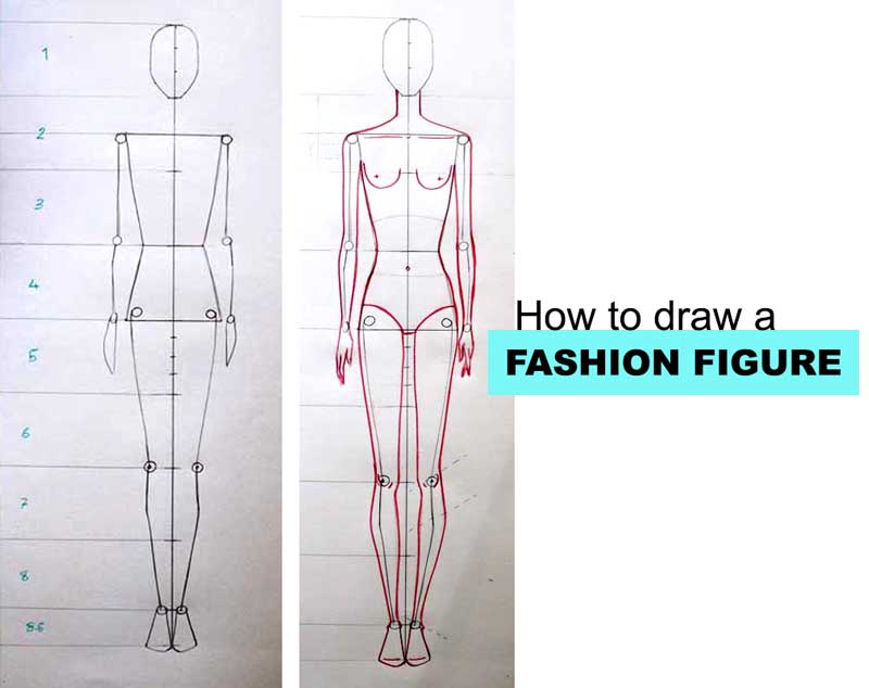 How To Draw Fashion Figure Step By Step Tutorial For Beginners