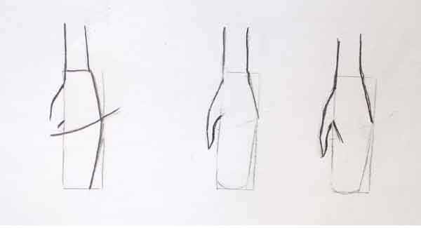 Lean to draw hand fast and easy