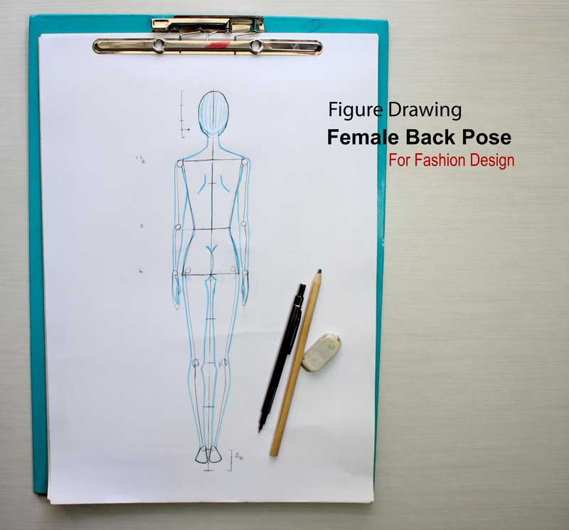 How to sketch fashion figures back step by step