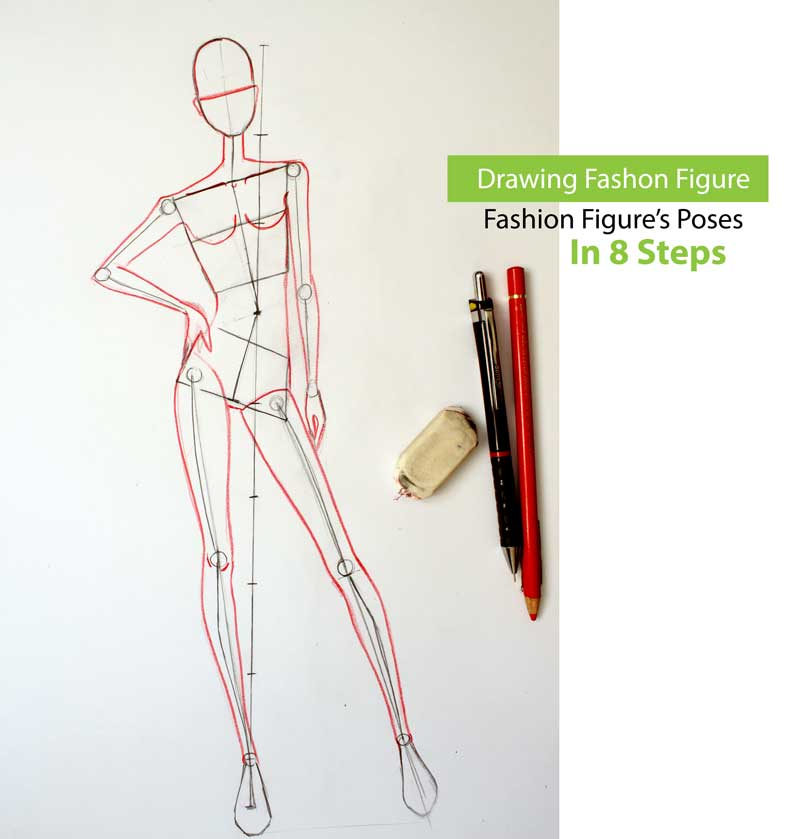 Online course for drawing female fashion figure gesture